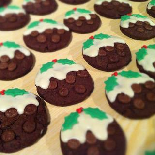 Christmas Pudding Biscuits - Cake by Roseanne