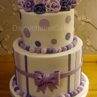 Pretty in purple - Cake by Daisychain's Cakes