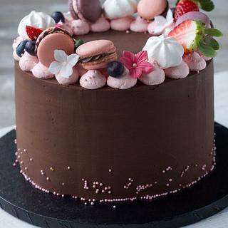 Ganache cake chocolatecake Macarons