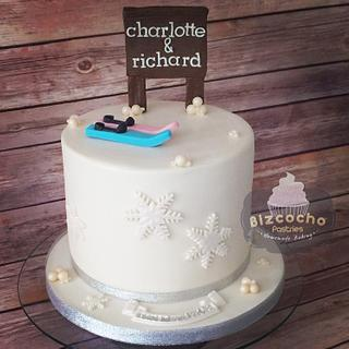 Skiing! Engagement cake <3
