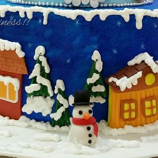 The winter scene! - Cake by Handmade Happiness