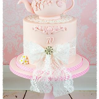 70th birthday Cake  - Cake by Julie