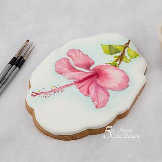 Hibiscus Flower Cookie 🌺🍃🎥