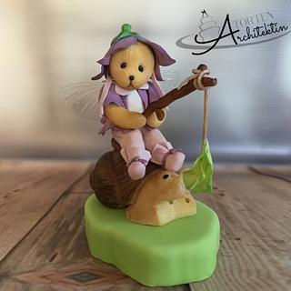 Bear fairy cake topper