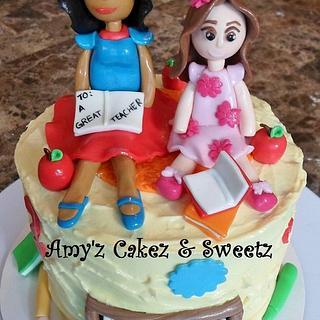 Teacher Appreciation cake - Cake by Amy'z Cakez & Sweetz