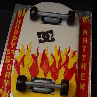 Skateboard on Fire Cake...