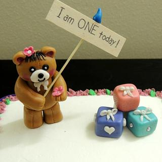 Teddy Bear Cake - Cake by steffy
