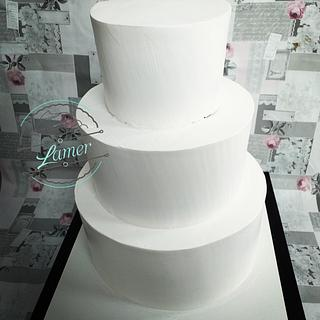 Whipped cream wedding cake