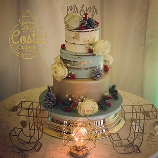 Winter wedding cake - Cake by Costa Cupcake Company