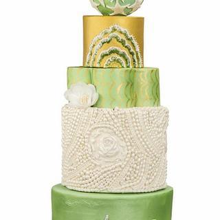 Sea & Waterlife - Modern Wedding Cake