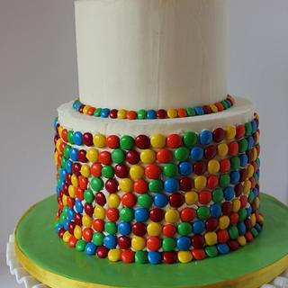 Rainbow loom bracelet cake