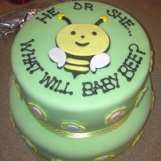 Boy or Girl? Baby Shower Cake - Cake by Sugared Tiers