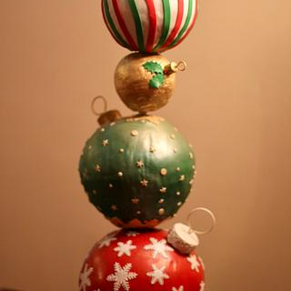 Christmas Baubles  - Cake by sheena