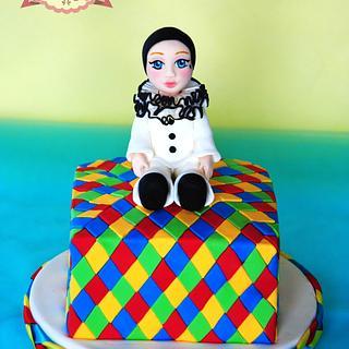 Pierrot Carnevale Cake