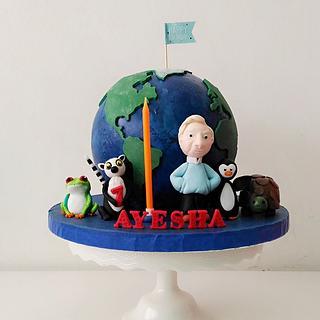 Blue Earth (BBC) cake
