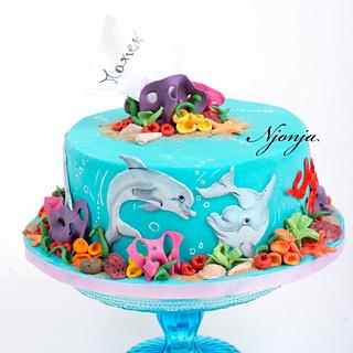 Dolphine cake