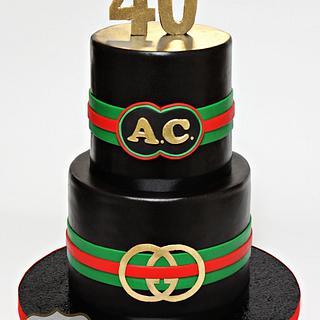 Man's 'Gucci' Birthday Cake