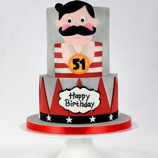 Strongest Man on Earth Birthday Cake