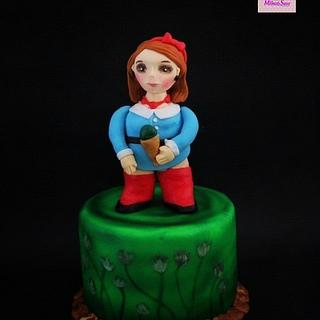 The girl with the ice cream 🍦 - Botero Challenge by Bakerswood - Cake by Mero Wageeh