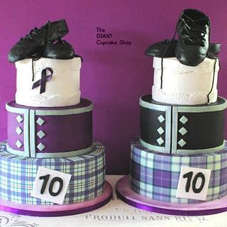 Matching Highland Dancing cakes