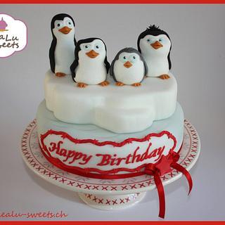 Penguins of Madagascar cake - Cake by Lealu-Sweets