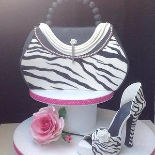 fashion bag and shoes cake - Cake by Titty