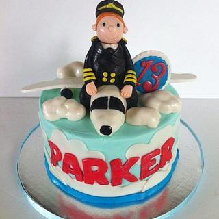 Pilot Birthday Cake