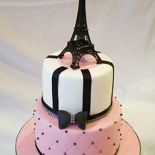 Paris theme Bridal shower cake