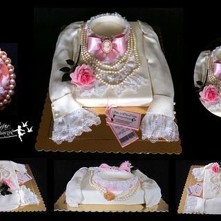 Vintage Female Shirt Cake
