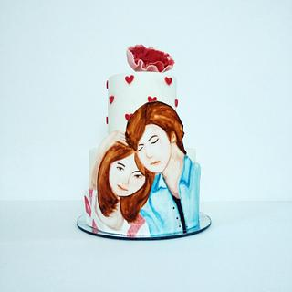 Expression of LOVE - Cake by Surabhi Maheshwari
