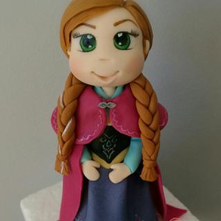 Frozen anna figurine