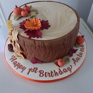 Autumn theme cake
