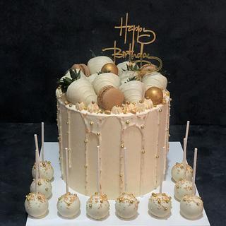 Ivory drip cake