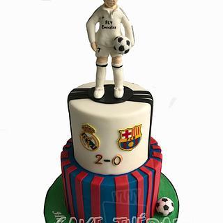 Football themed cake.