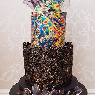 Modern Retro 50th Birthday cake