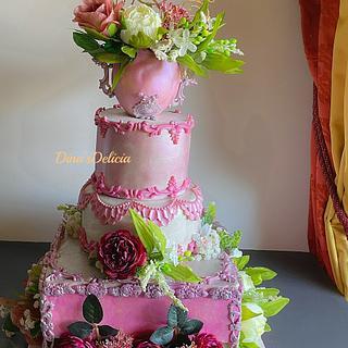 Wedding cake  - Cake by Dinadiab