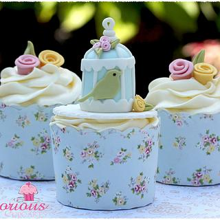 Birdcage Cupcakes - Cake by Victorious Cupcakes