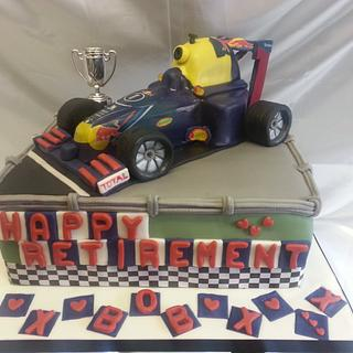 Red Bull,Formula 1 Birthday cake.