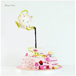 Coffee time gravity cake