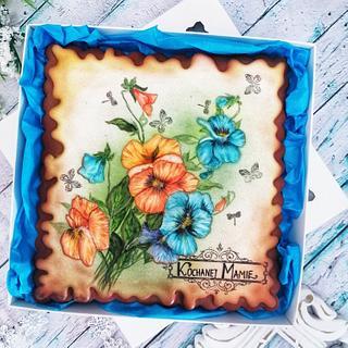 Kwiaty Bratki  - Cake by Beata