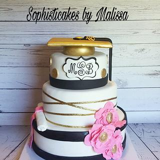 Kate Spade Graduation Cake