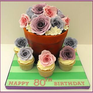 Flowerpot of Roses - Cake by Gill W