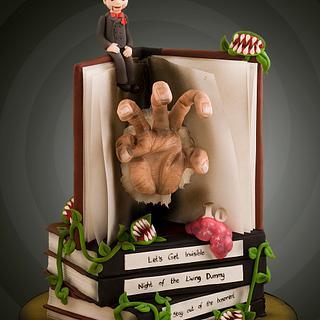 Goosebumps Manuscript Cake