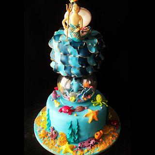 Undersea themed cake