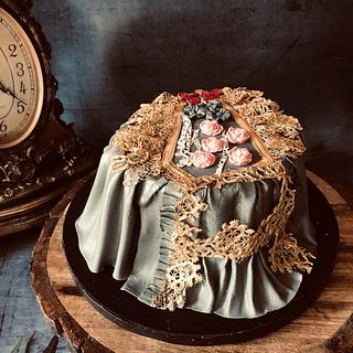 Vintage dress era-1837  - Cake by TheBakersGallery