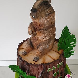 Groundhogs cake.