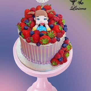 birthday cake-fruity for Didi