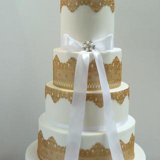 Charlotte wedding cake