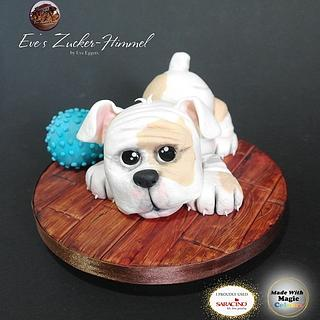 "My British puppy Bulldog -  ""Pawfectly Dog-licious "" Collaboration - Cake by Eve´s Zucker-Himmel"