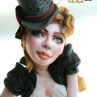 Lady Steampunk cake- Steam Cakes Collaboration